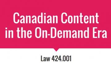 """Group Presentation on """"Canadian Content in the On-Demand Era"""""""