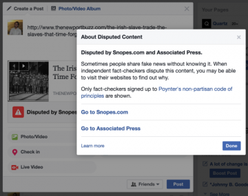 "Facebook starts deploying new tools to combat ""fake news"""